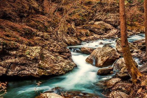 Stream, Creek, Brook, Water, Rocks, Stones, Boulders