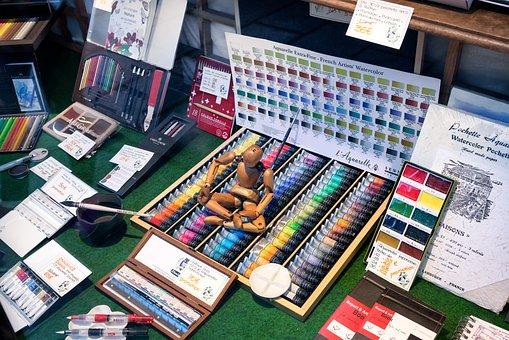 Art, Supplies, Paint, Brushes, Creativity, Artistic