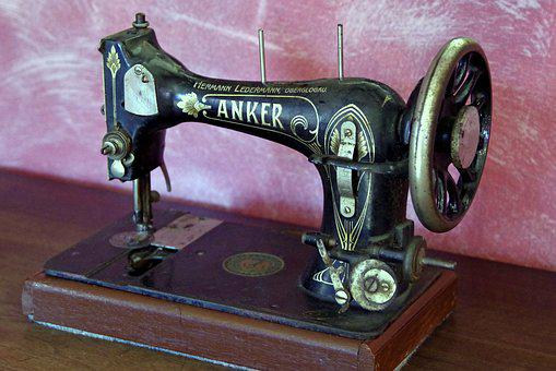 Sewing Machine, Antique, Old, Sew, Tool, The Device
