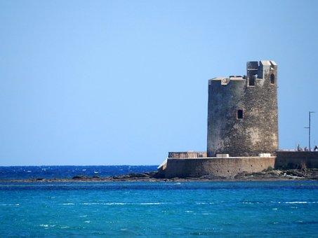 Sea, Torre, Summer, Beach, Horizon, Blue, Landscape