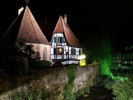Truss, Home, Wine, France, Vosges, Fachwerkhäuser