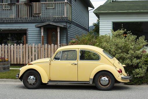 Vw, Beetle, Car, Volkswagen, Vehicle, Vintage