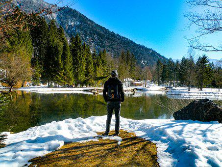 Hiking, Nature, Mountain, Snow, Wintry, Wanderer