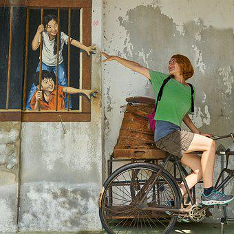 Women's, Human, Entertainment, Wall, Graffiti, Paint