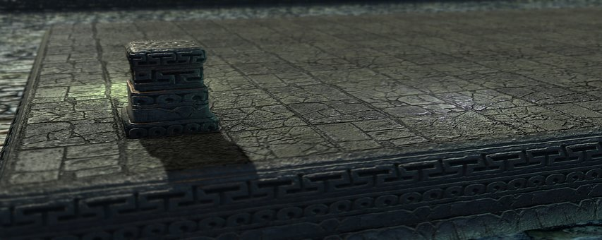 Game, Video, Shader, Temple, 3d, Mesh