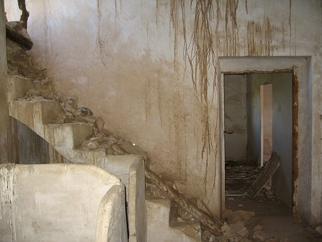 Stairs, Old, Ruins, Old House, Casa Vieja, Step