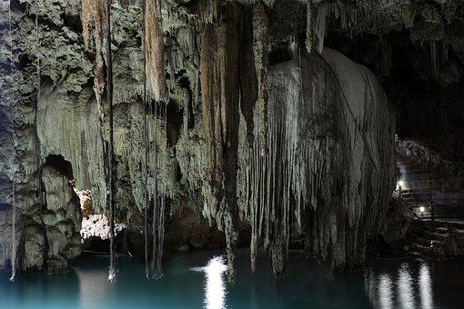 Cenote, Cave, Grotto, Mexico, Yucatan, Xkeken