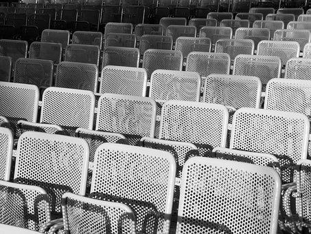 Chair, Seating, Metal, Audience, Iron, Furniture, Frame