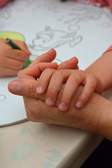 Hand, Hands, Child, Kid, Start Of, Child's Drawing