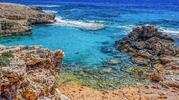 Rocky Coast, Lagoon, Calm, Serenity, Sea, Landscape