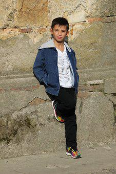 Child, Young, Nice, Model, Stones, Posture, Posing