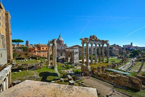 Rome, Forum, Roman, Coloseum, Ruins, Famous, Italy