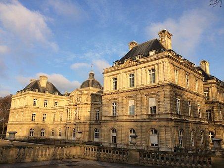 Paris, Senate, Jardin Du Luxembourg