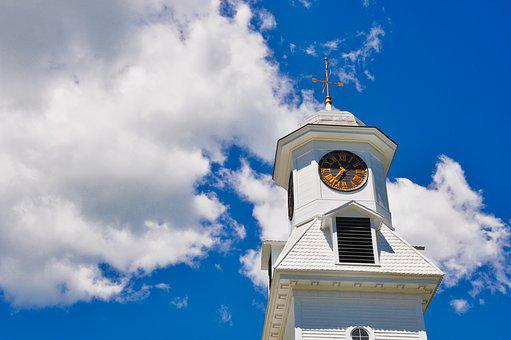 Steeple, Clock, Tower, Travel, Building, Historic, Town