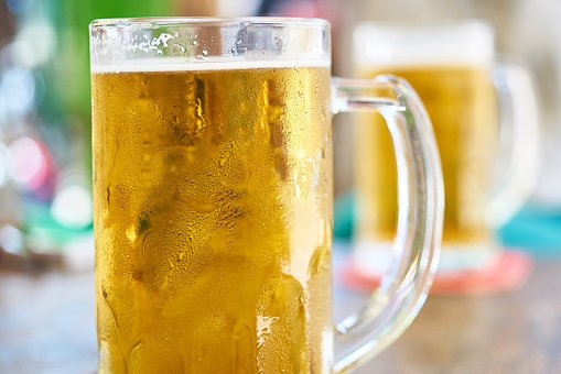 Beer, Beverage, Glass, Yellow, Cup, Bar, Night Life