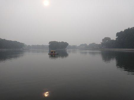 China, Beijing, Lake, Boot, Places Of Interest, Grey