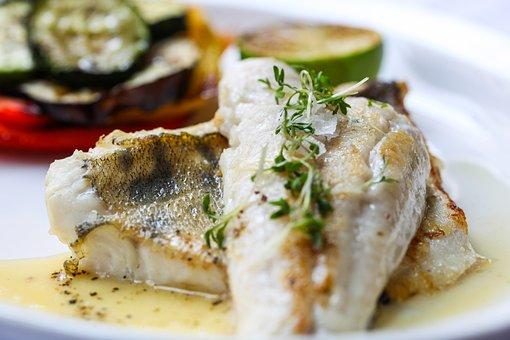 Fish, Food, Vegetables, Diet, Lemon, Zander