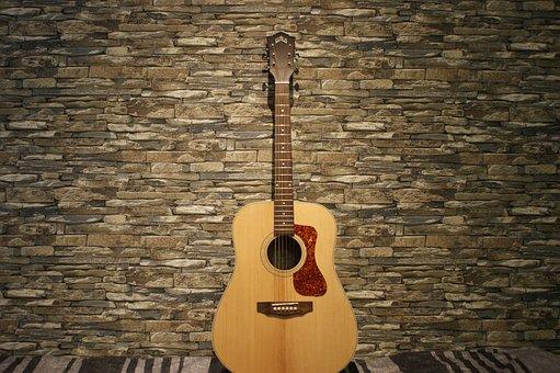 Guitar, Guitars, Klampfe, Tonkunst, Acoustic Guitar