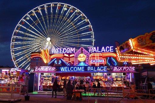 Fun Fair, Ferris Wheel, Attraction, Fun, Hobbies, Color