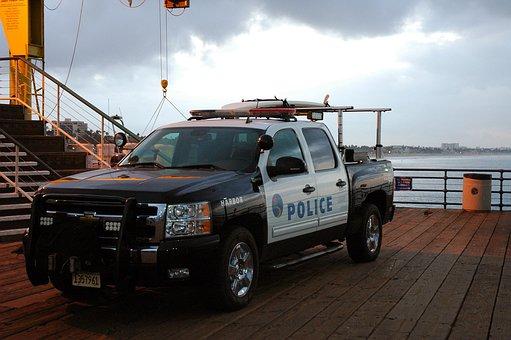 Police, Ocean, Pier, Coast, Law
