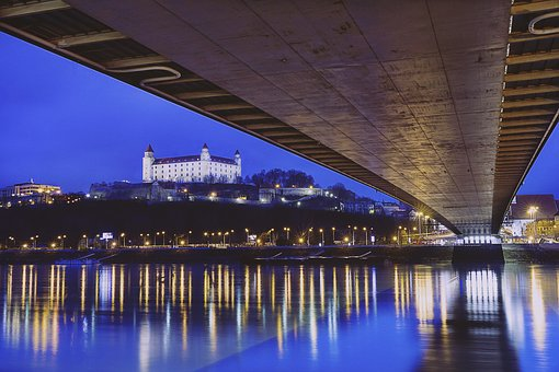 Bratislava, Bridge, Water, Slovakia, Danube, River