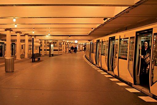 Metro, Subsoil, Yellow, Transport, City, Berlin, Urban