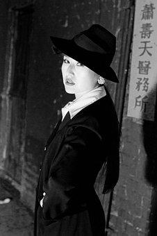 Asian, Girl, Hat