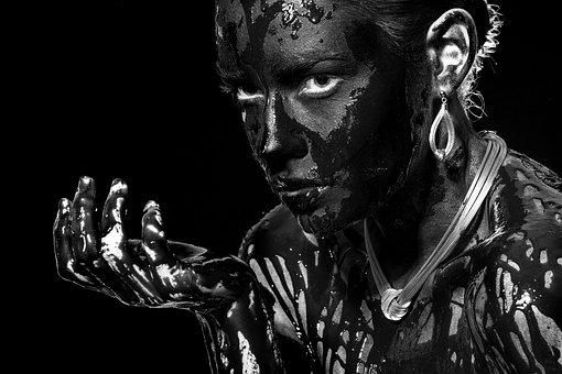 Black And White, Portrait, Women's, Jewelry, Look