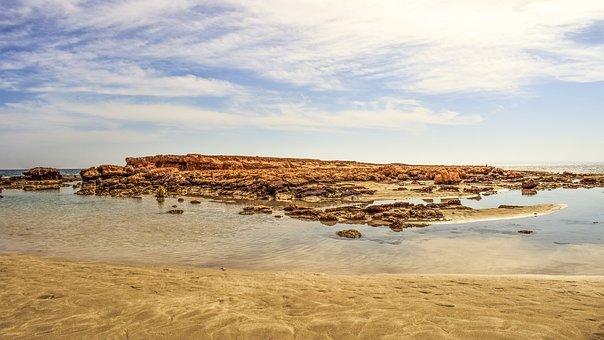 Beach, Landscape, Scenery, Sand, Rocky, Lagoon, Calm