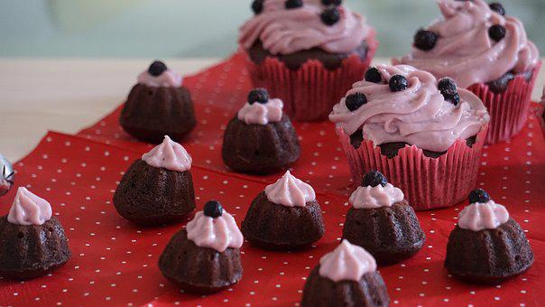 Muffins, Pink, Cream, Delicious, Pastries, Eat, Tart