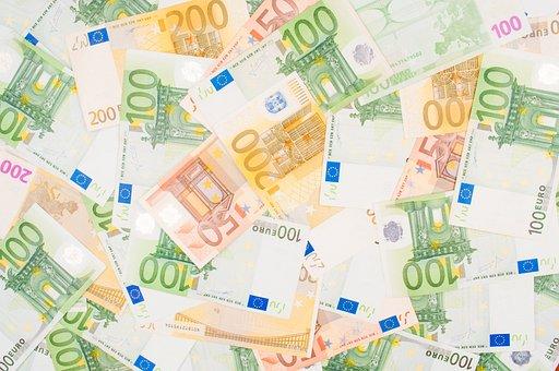 Euro Symbol, Defocused, European Union Currency