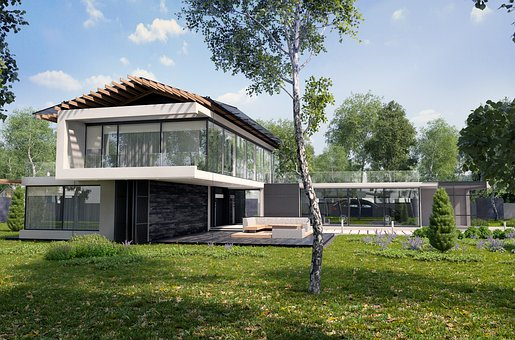 Project, Exterior, Summer, Tree, Birch, House, Villa