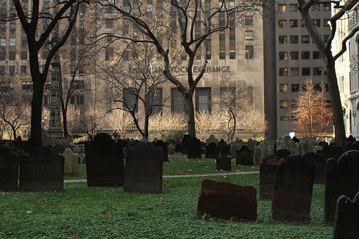Stock Exchange, New York, Nyc, Us, Graveyard, Cemetery
