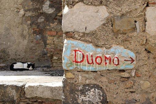 Castelmola, Sicily, Italy, Dome, Italian City, Cat Nap