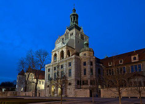 National Museum, Munich, Bavaria, Night Photograph