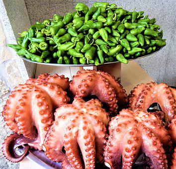 Spain, Food, Octopus, Pulpo, Restaurant, Traditional