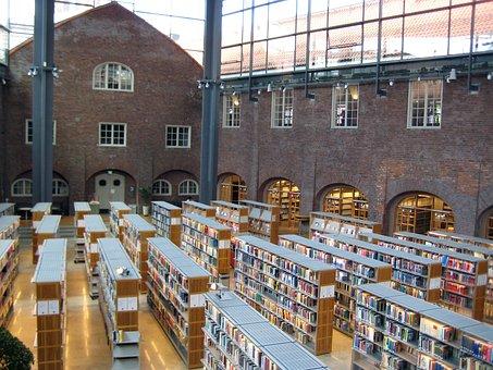 Library, Books, Architecture, Old, Modern, Masonry