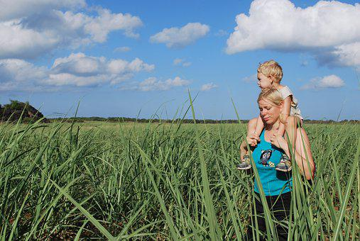 Sugar Cane, Mother, Son, Field, Love, Beautiful, Beauty