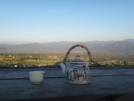 Tee, Teapot, Thailand, Pai, Highlands, View, Cozy