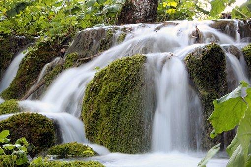 Waterfall, Water, Long Exposure, Waters, River, Bach