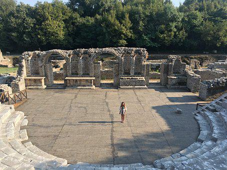 Albania, Antiquity, Rome, Greece, Amphitheater, Butrint