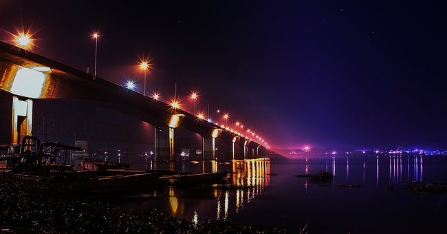 Bridge, Night Photography, Voyrob, Night, Photography