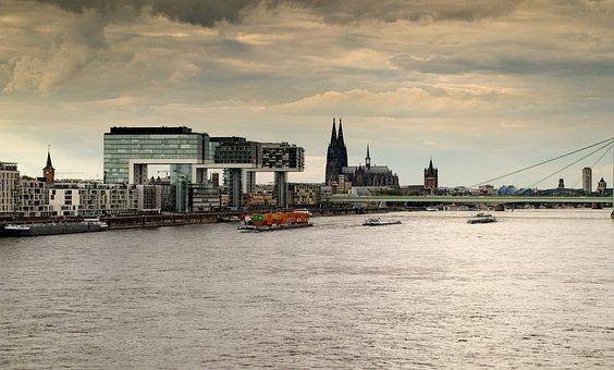 Cologne, Rhine, Cologne Cathedral, Landmark, Bridge