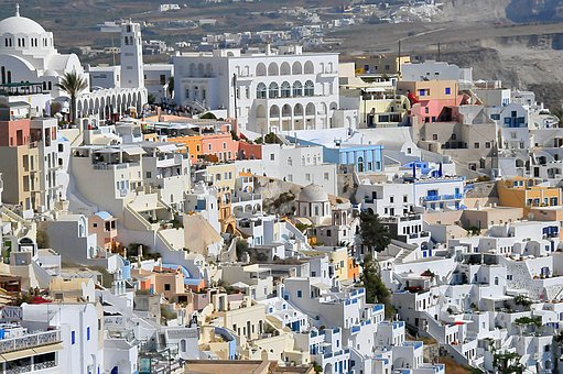 Houses, Architecture, Greece, Building, House
