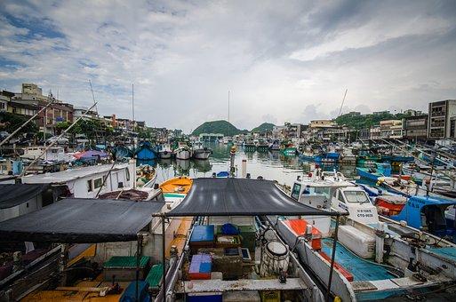 Fishing Boats, Fishing Port, Colorful Boats, Boat, Port
