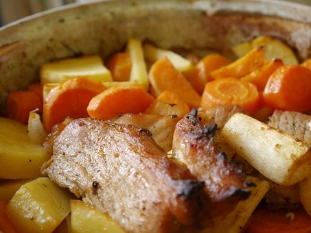 Pork, Meal, Carrot, Roasted, Gourmet