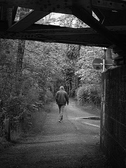 Man, Person, Black And White, Hike, Wanderer, Human