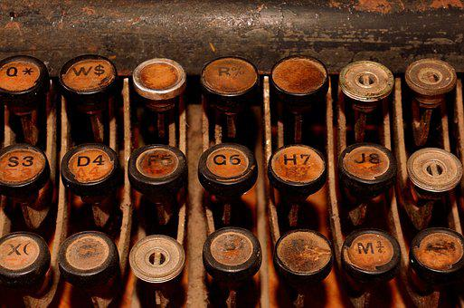 Old Typewriter, Typewriter, Retro, Keyboard, Letters