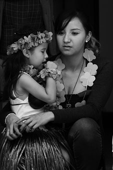 Mother And Daughter, People, Portrait, Women, Beauty