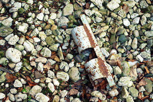 Stones, Metal, Old, Rusted, Stainless, Forget, Ground